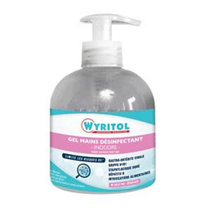 Wyritol Gel hydroalcoolique désinfectant mains - Prévention covid - Flacon pompe 300 ml