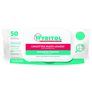 Wyritol Lingettes désinfectantes multi-usages - Paquet de 50