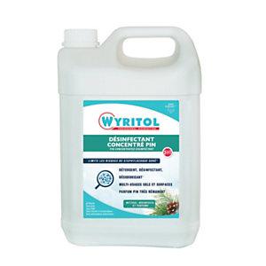 Wyritol Nettoyant désinfectant multi-usages 3D concentré, parfum pin - Bidon 5L