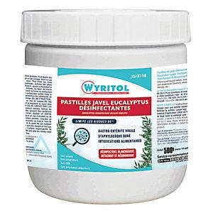 Wyritol Pastilles effervescentes Javel parfum Eucalyptus - Boîte de 150
