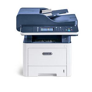 Xerox WorkCentre WC 3345, multifonction copie/impression/numérisation/télécopie WiFi recto verso A4, 40 ppm, PS3 PCL5e/6, DADF, 2 bacs, 300 feuilles, Laser, Impression mono, 600 x 600 DPI, A4, Impression directe, Bleu, Blanc 3345V/DNI