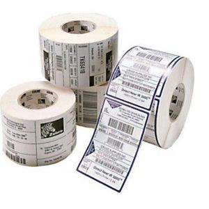 Zebra Etichette in rotoli per stampanti Desktop, 800262-125, Carta protetta, Stampa termica diretta, Adesivo permanente, 57 x 32 mm, 2.100 etichette per rotolo (confezione 12 rotoli)