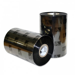 Zebra Ribbon cera 2300BK per stampanti Industriali, 02300BK11045, 110 mm x 450 m, Nero (confezione 12 pezzi)