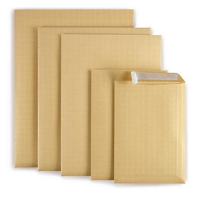 Pochette kraft armé brune à fermeture adhésive##Zelfklevende bruine versterkte envelop