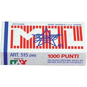 ZENITH Modello 515 Punti metallici 24/6 (confezione 10.000 pezzi)