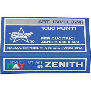 """ZENITH Punti """" 130/LL"""" - Passo 6 mm - Altezza gamba mm 4 (confezione 10.000 pezzi)"""