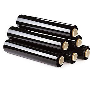 Zwarte ondoorzichtige rekfolie voor handmatig wikkelen 20micron 500mm x 300m